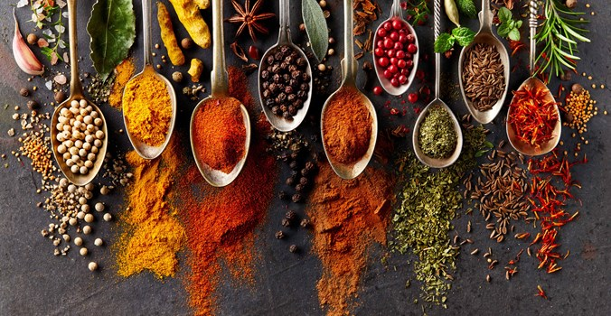 Sea Spice , Spices On Spoon